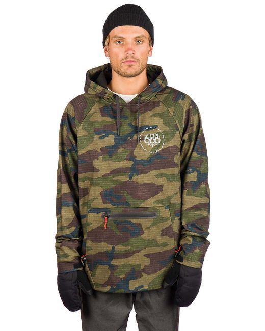Waterproof Shred Hoodie camuflaje 686 de hombre de color Green