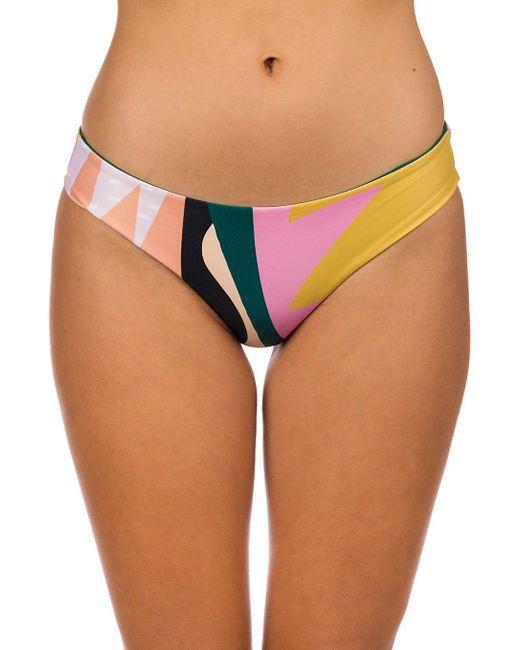 Into The Abyss Good Hip Bikini Bottom estampado Rip Curl de color Multicolor
