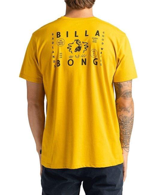 Peligrosa T-Shirt amarillo Billabong de hombre de color Yellow