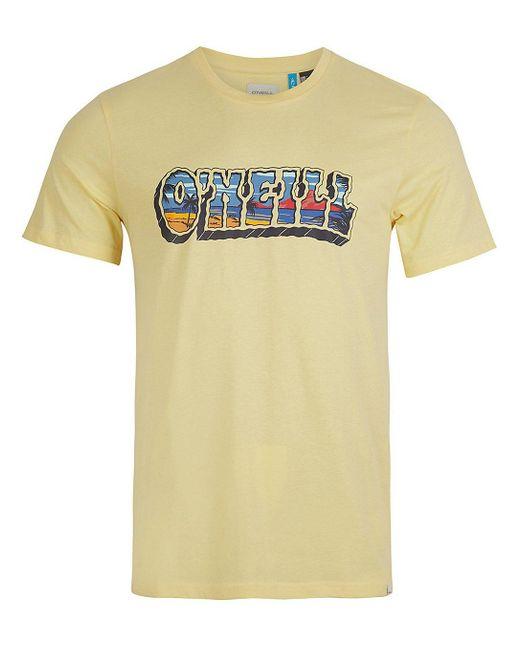 O'neill Sportswear Oceans View T-Shirt in Yellow für Herren