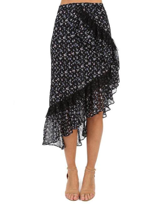 LoveShackFancy Black Liza Skirt