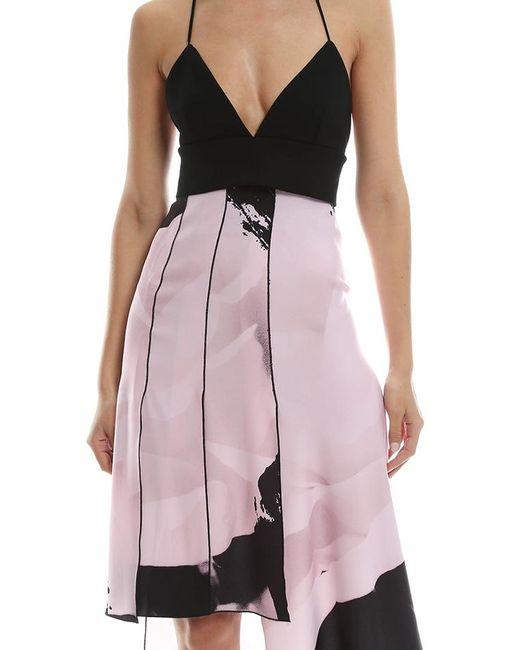 15a9e83d38 ... Nicholas - Pink Paint Floral Bra Dress - Lyst