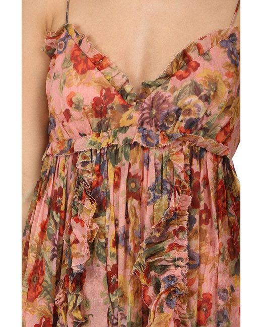 7d380bd5c902 ... Zimmermann - Pink Lovelorn Frill Mini Dress - Lyst