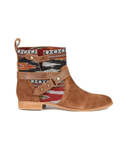 Cynthia Vincent - Brown West Ikat Engineer Boot - Lyst