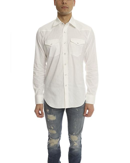 Lucien Pellat Finet | White Lucien Pellat Finet Skull Western Shirt for Men | Lyst