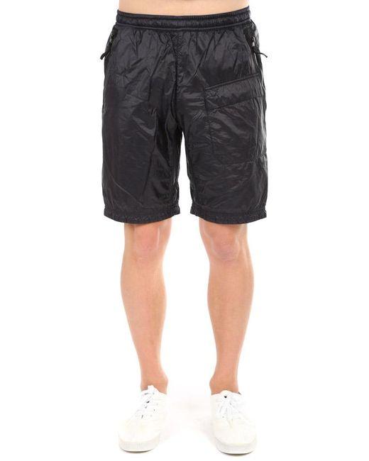 Stone Island Black Nylon Bermuda Short for men