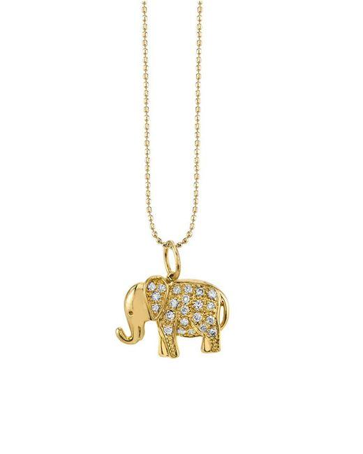 Sydney Evan - Metallic Small Elephant Charm Bracelet - Lyst