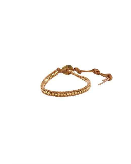 Chan Luu - Brown Gold Beads On Henna Leather Bracelet - Lyst