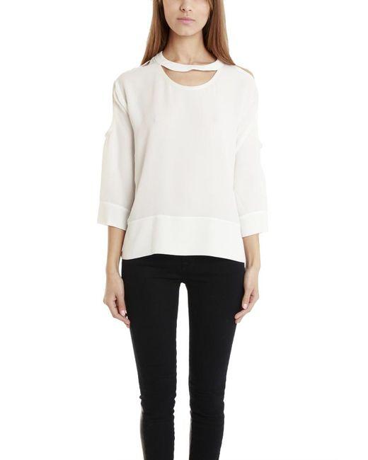 IRO - White Jadyn Cutout Sleeve Tunic - Lyst