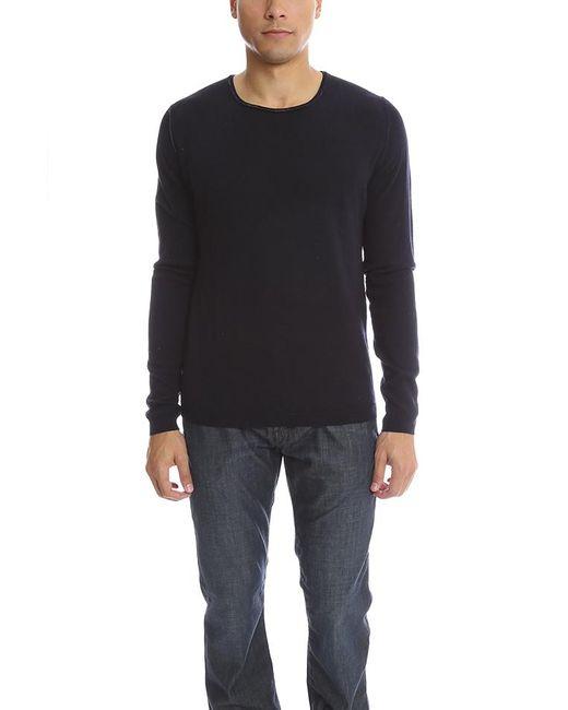 120% Lino Black Cashmere Sweater for men
