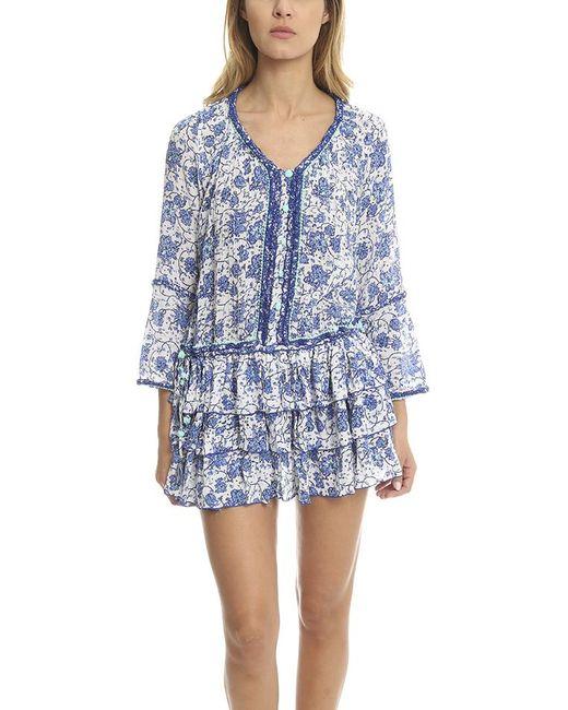 Poupette - Blue Boho Mini Dress - Lyst
