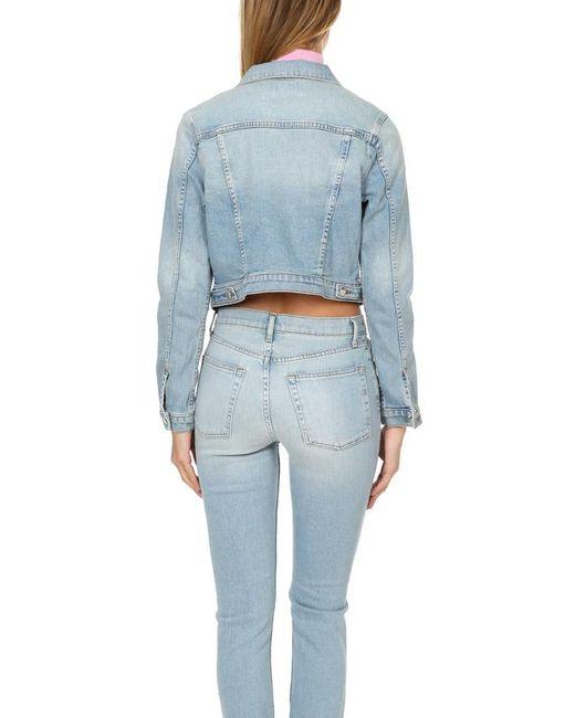 Cotton Citizen Blue Crop Denim Jacket