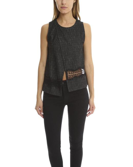 Thakoon | Gray Addition Crossover Woven Tank | Lyst