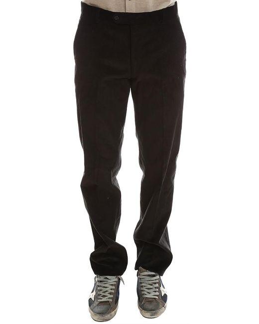 Simon Spurr Black Corduroy Pants for men