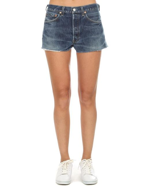 Re/done Blue Short Two Tone