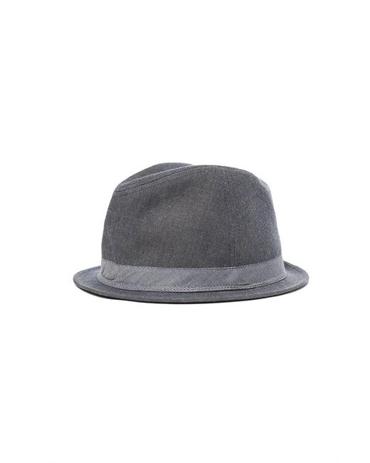 Rag & Bone - Black Chambray Fedora for Men - Lyst
