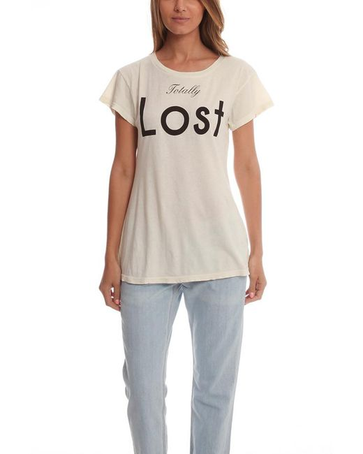 Wildfox | White Totally Lost Tee | Lyst