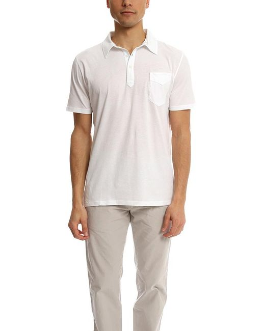 Officine Generale - White Ultra Light Jersey Polo for Men - Lyst