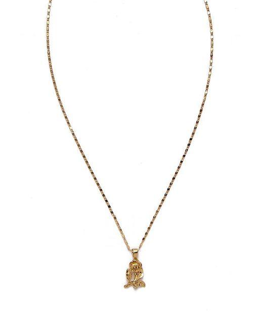 Vanessa Mooney - Metallic The Mini Gold Rose Necklace - Lyst