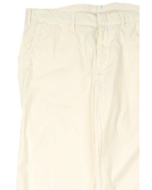 C P Company White Lungo Pants for men