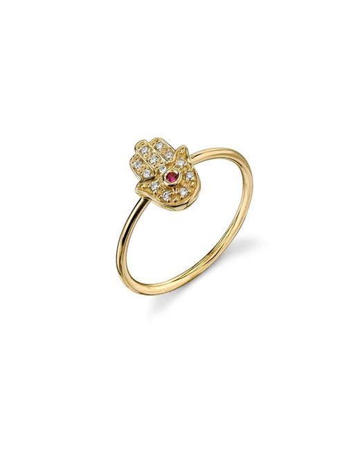 Sydney Evan   Hamsa Ring - Yellow Gold   Lyst