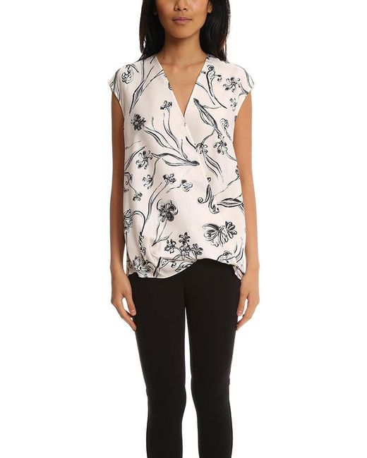 3.1 Phillip Lim - Multicolor Floral Print Soft Draped Sleeveless Blouse - - Lyst