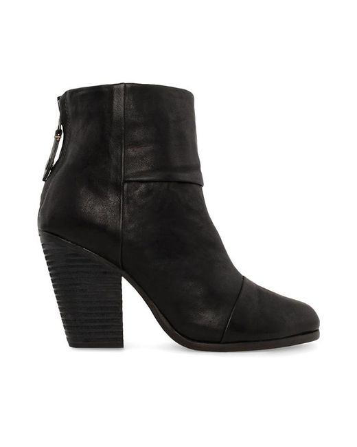 Rag & Bone - Black Classic Newbury Leather Ankle Boots - Lyst
