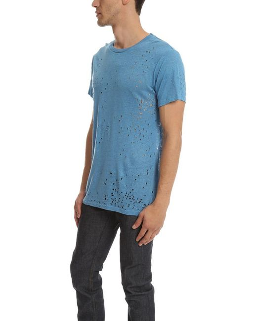 IRO Blue Alessio T-shirt for men