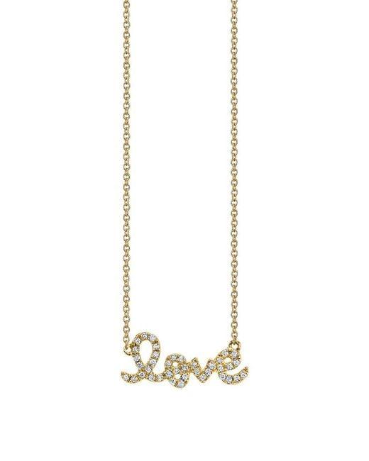 Sydney Evan - Metallic Small Love Necklace Yellow Gold - Lyst
