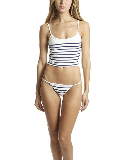 Solid & Striped Blue The Nicole Top Navy Stripe