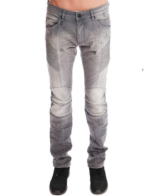Balmain | Gray Light Grey Jeans | Lyst