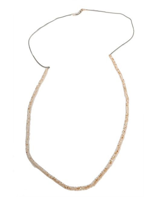 Chan Luu | Metallic Champagne Crystal Necklace | Lyst