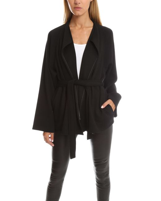 Helmut Lang | Black Long Sleeve Belted Cardigan | Lyst