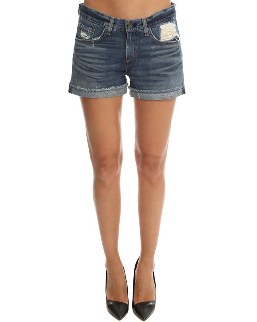 Rag & Bone | Blue /jean Boyfriend Short | Lyst