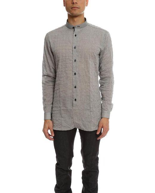 Naked & Famous - Gray Long Shirt Crinkle Horizontal Stripes for Men - Lyst
