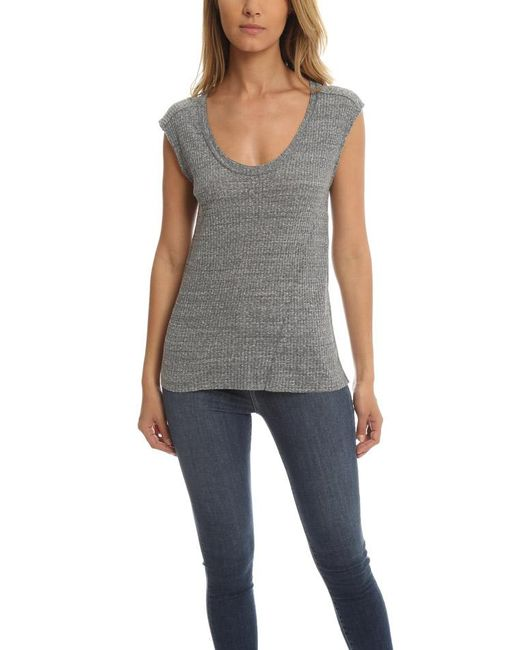 IRO | Gray Dici Top | Lyst