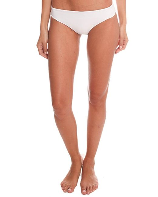 Tori Praver Swimwear White Hoku Bottom Swimwear