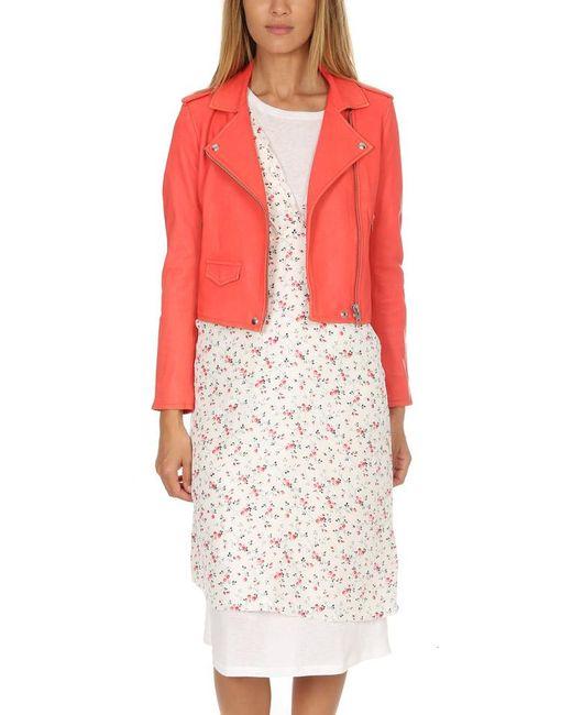 IRO | Pink Ashville Leather Jacket | Lyst