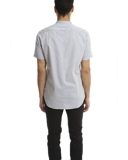 Vince Blue Melrose Collar Shirt for men