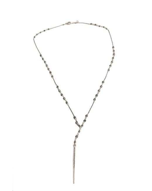 Chan Luu | Metallic Gunmetal Chain Necklace With Indian Beads | Lyst