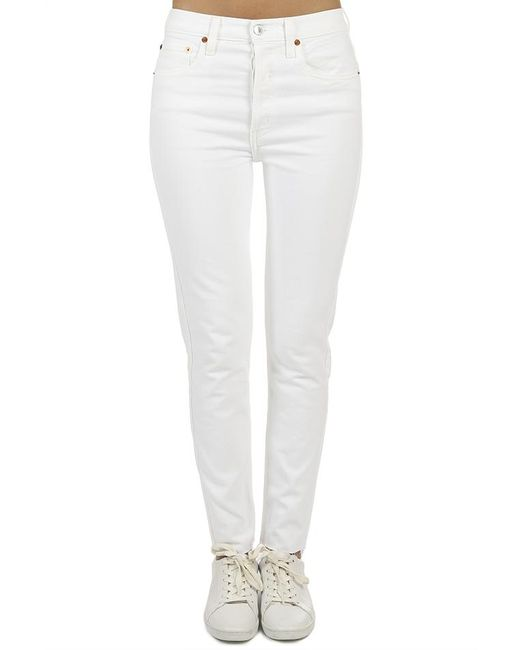 Re/done - White Originals High Rise Ankle Crop - Lyst