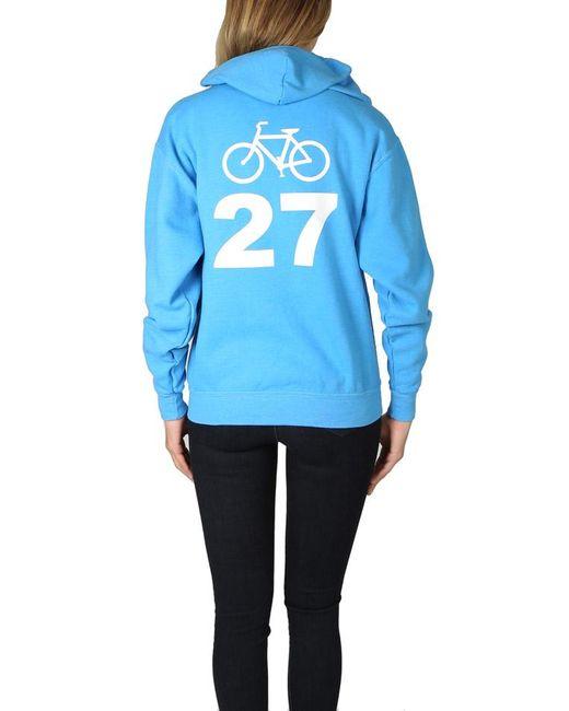 Blue&Cream Blue Bicycle 27 Hoodie Sweater