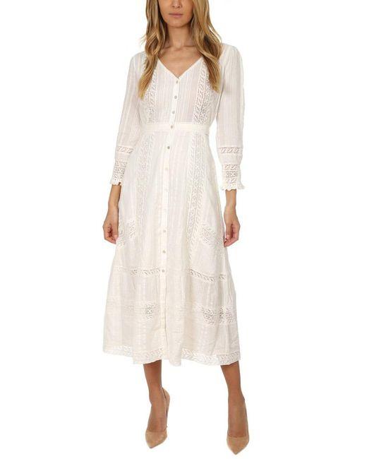 LoveShackFancy - White Desert Victorian Maxi Dress - Lyst