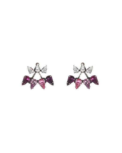 DANNIJO | Metallic Ellie Earrings | Lyst