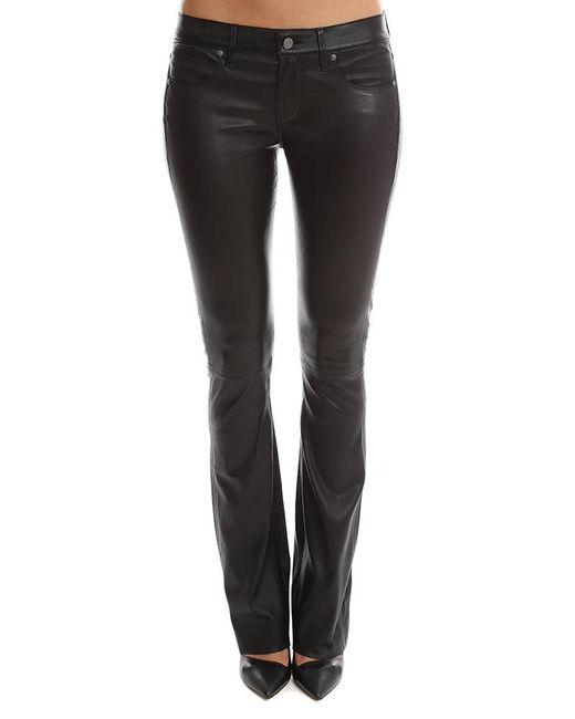 RTA - Black Jackson Leather Flare Pant - Lyst