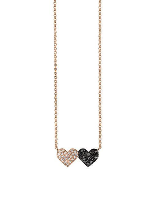 Sydney Evan - Metallic Medium Double Heart Necklace - Lyst