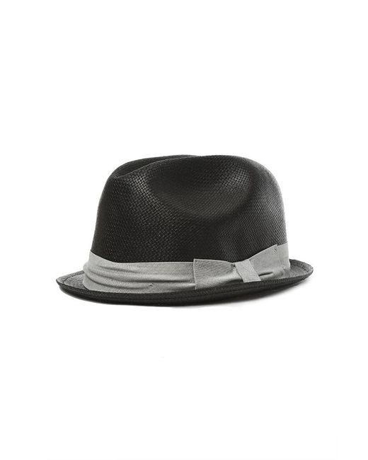 Rag & Bone - Black Straw Fedora for Men - Lyst