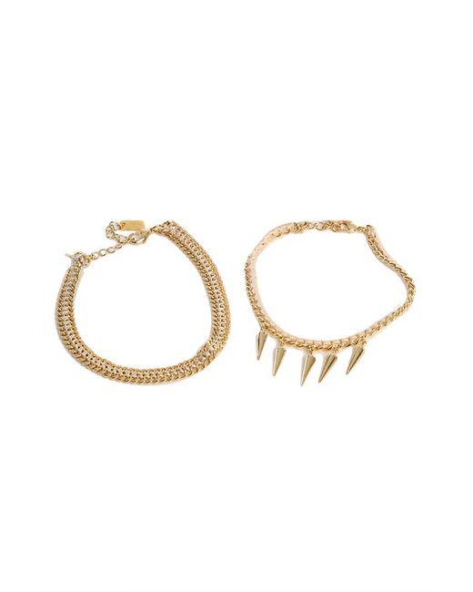 Chan Luu - Metallic Light Pink And Gold Friendship Bracelet - Lyst