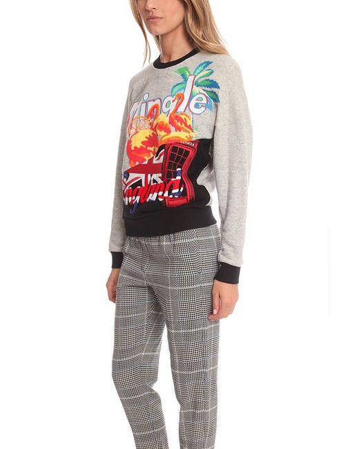 3.1 Phillip Lim Gray Tourist Logo Embroidered Sweater