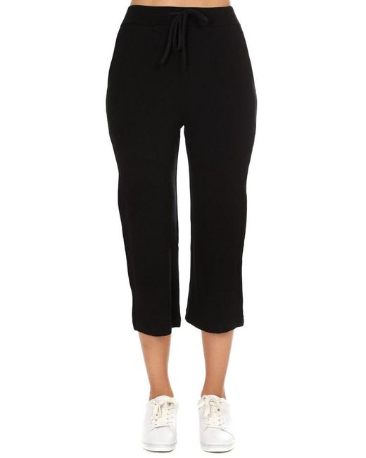 Majestic Filatures - French Terry Midi Pants Black - Lyst